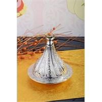 Royal Windsor Kubbe Şekil Kabartmalı Gümüş Lokumluk - Orta