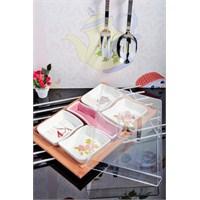 Royal Windsor Rose Serisi Seramik Ve Akrilik Kapakli 7 Parça Kahvaltılik