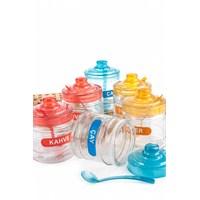 Royal Windsor 2 Set Cam 3'Lü Kaşıkli Renkli Baharat Takımı