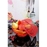 Royal Windsor Domates Şekilli Ayaklı Meyve Ve Ekmek Sepeti