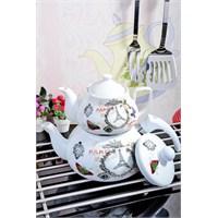 Royal Windsor Paris Serisi Emaye Üzeri Porselen Çaydanlik Seti