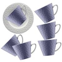 Kütahya Porselen 12 Parça Kahve Takımı Mor