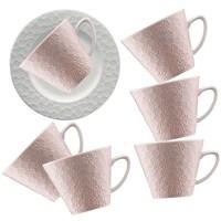 Kütahya Porselen 12 Parça Kahve Takımı Somon