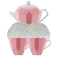 Kütahya Porselen 6 Parça Çay Seti Pembe