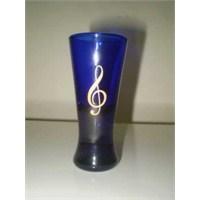 Sol Anahtarlı Mavi Cam Likör Bardağı