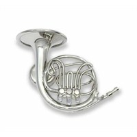 Magnet Çalgı Minyatür Korno Gümüş