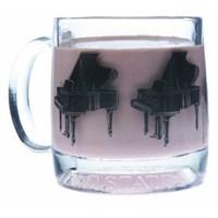 Kuyruklu Piyano Kulplu Cam Bardak