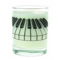 Piyano Tuşeli Cam Bardak