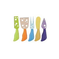 Tantitoni Delikli Bıçaklı 5'Li Peynir Bıçağı Seti