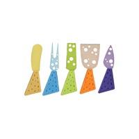 Tantitoni Delikli Sap Ve Bıçaklı 5'Li Peynir Bıçağı Seti