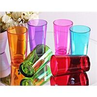 Mos'Ev 6'lı Renkli 6 Renk Kahve Yanı Su Bardağı