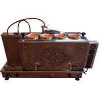 Osmanlı 4 Demlikli Full Otomatik Bakır Çay Kazanı