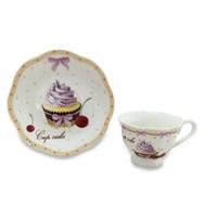 Dearybox Cupcake Pastalı China Türk Kahve Fincan Takımı