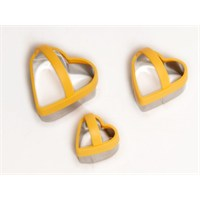 Atadan 3 Lü Kalpli Metal Bisküvi Kalıbı-Turuncu-Pd3340