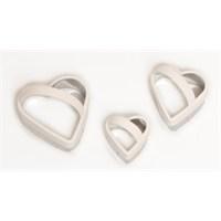 Atadan 3 Lü Kalpli Metal Bisküvi Kalıbı-Beyaz-Pd3340