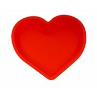 Atadan Kalpli Büyük Silikon Kek Kalıbı-Kırmızı