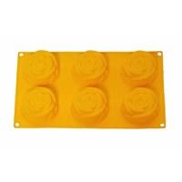 Atadan 6 Lı Çiçek Silikon Kek Kalıbı-Sarı