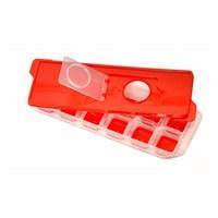Atadan 12 Li Bas-Parmak Silikon Buz Kalıbı Saklama Kablı-Kırmızı