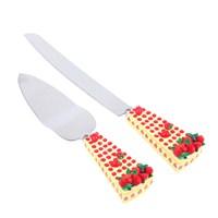 "Kancaev Pasta Servis Seti, ""Sarı Saplı Çilekli"""