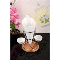 Royal Windsor Bambu Standlı Metal Ayaklı Lüx Porselen Cipslik Seti
