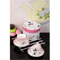 Royal Windsor Madam Figürlü Özel Kutulu Porselen 2 Kişilik Kahve Fincan Takımı