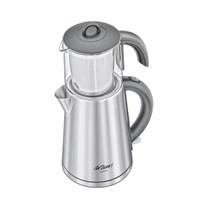 Arzum AR381 Çayım Cam Demlikli İnox Çay Makinesi