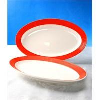 Evino 2'Li Porselen Salata Tabağı - Turuncu