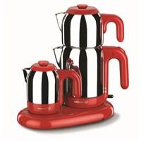 Korkmaz A353-01 Mia Çay Kahve Makinesi Kırmızı