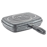 O.M.S Mıknatıslı 36 Cm Granit Grıll Pan Tava