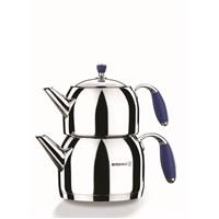 Korkmaz A 119-02 Floara Maxi Çaydanlık Takımı Mavi