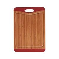 Ceraware 3 Katmanlı Kaymaz Bambu Kesme Tabl.40 Cm Kırmızı