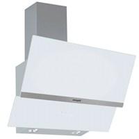 Eminçelik 14570 Slim Dijital Göstergeli Yatay Beyaz Cam Dekoratif Davlumbaz