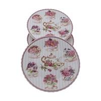 Fidex Home Bone Porselen Tea Time 6Lı Pasta Tabağı