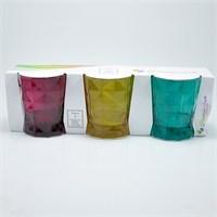 Paşabahçe Prizma Renkli 3 Lü Su Bardağı