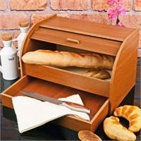 Royal Windsor Ahşap Ekmek Dolabı Ekmeklik Çekmeceli