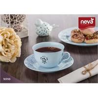 Neva N998 Rosemary Dantel S 12 Prç Turkuaz Çay Takımı