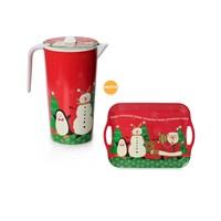 Noel Baba Desen Sürahi-(Noel Baba Tepsi Hediye)