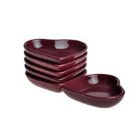 Keramika Çerezlik Kalp 13 Cm Mürdüm 572