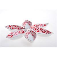 Keramika Çerezlik Sosluk Yaprak 12 Cm Beyaz 004 Kera Mira07 Cm Yaprak Sosluk