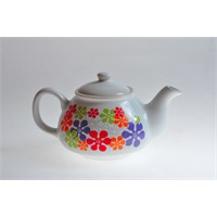 Keramika Demlik 9 Cm Beyaz 004 Renkli Trend A