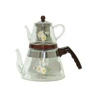 Royal Windsor 2432 Papatya Desenli Cam Çaydanlık Seti