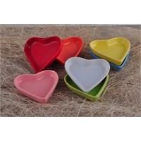 Keramika Set Çerezlik Kalp 9 Cm 6 Parça 004-100-200-302-400-550 A