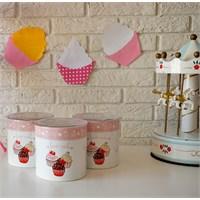 Keramika Set Saklama Kabı Ege 12 Cm 3 Parça Beyaz 004 Pink Cake A