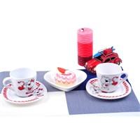 Keramika Takım Çay Yedi Tepe 4 Parça Beyaz 004 Asık Ayıcıklar A