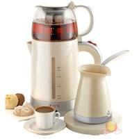King K-8287 Duoset Çay Kahve Makinesi Seti
