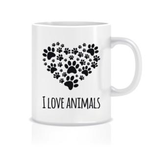 dalis hayvanları seviyorum tasarım kupa