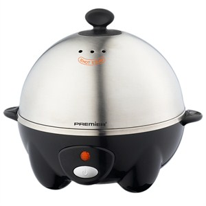 premier peb-7018 yumurta pişirme makinesi - siyah-gümüş