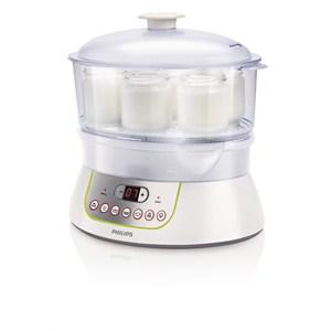 philips viva collection hd9141 00 900 w buharlı pişirici ve yoğurt yapma makinesi - beyaz