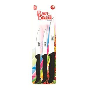 Behçet Bıçak Seti (1 Ekmek Bıçağı+2 Sebze Bıçağı) No:29