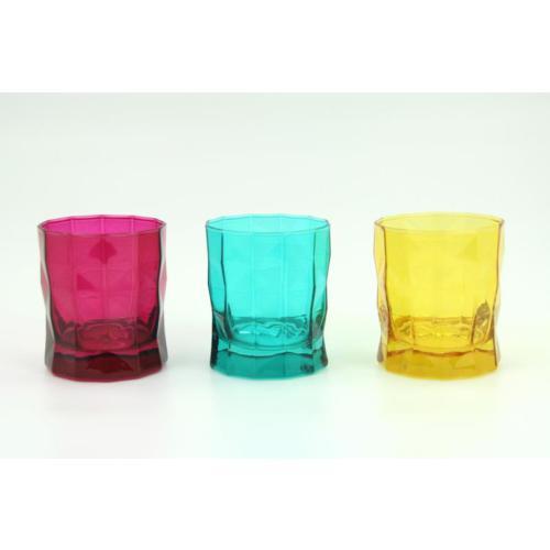 Paşabahçe Prizma Karışık Renkli Su Bardağı 3 Lü